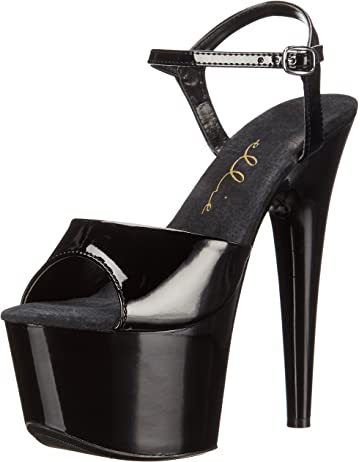 bc13815045 Amazon.com | Pleaser Women's Adore-709 Ankle-Strap Sandal ...