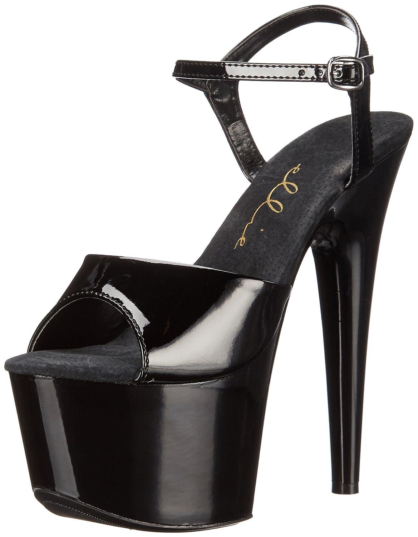 Ellie Shoes Women's 711 Flirt Platform Sandal B000PERQYY 9 M US|Black/Black