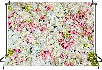 Amazon.com: sensfun Floral pared fotos telón de fondo fondo ...
