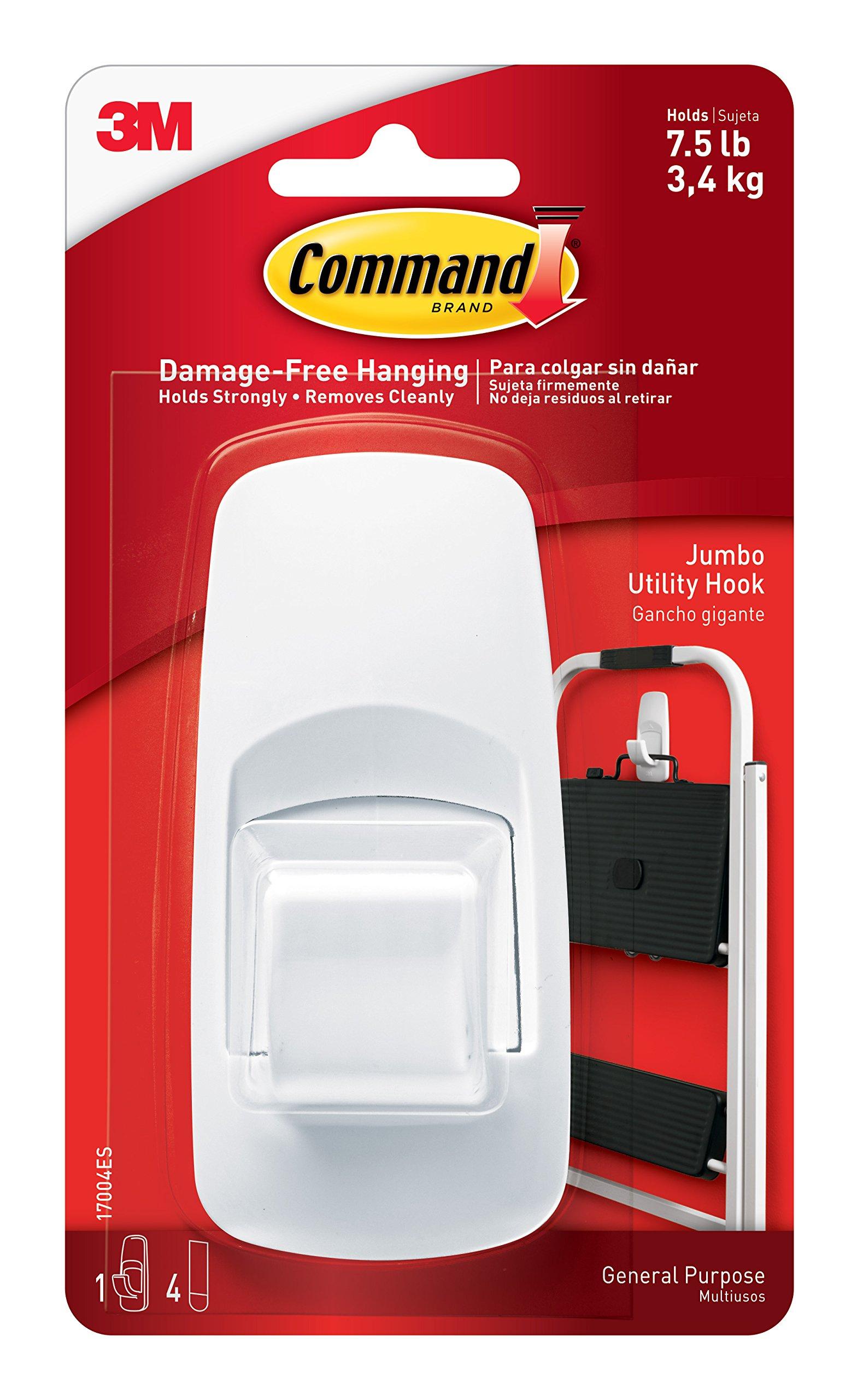 3m Company Command Jumbo Adhesive Hook,No 17004