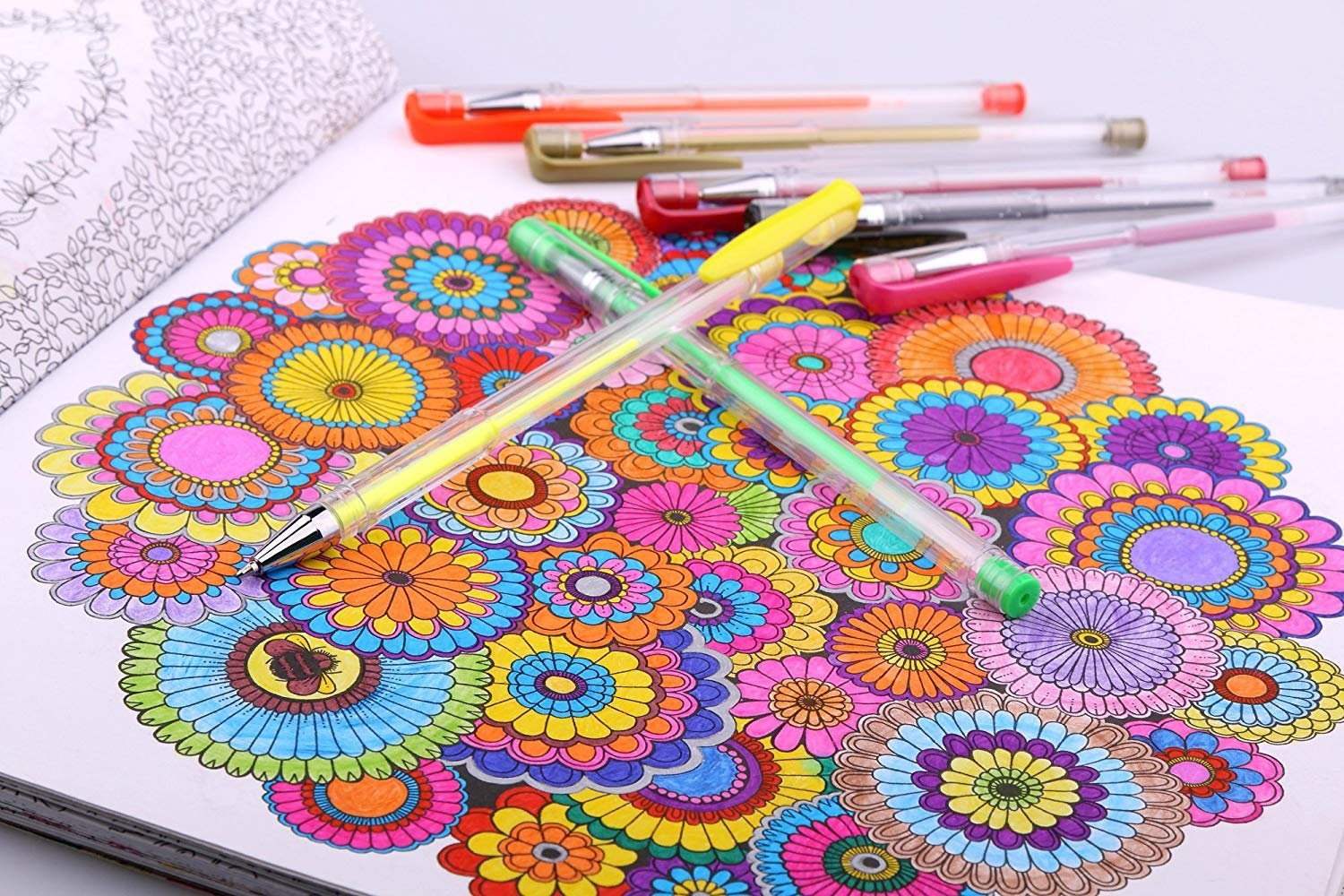 Smart Color Art 140 Colors Gel Pens Set Gel Pen for Adult Coloring Books Drawing Painting Writing by Smart Color Art (Image #5)