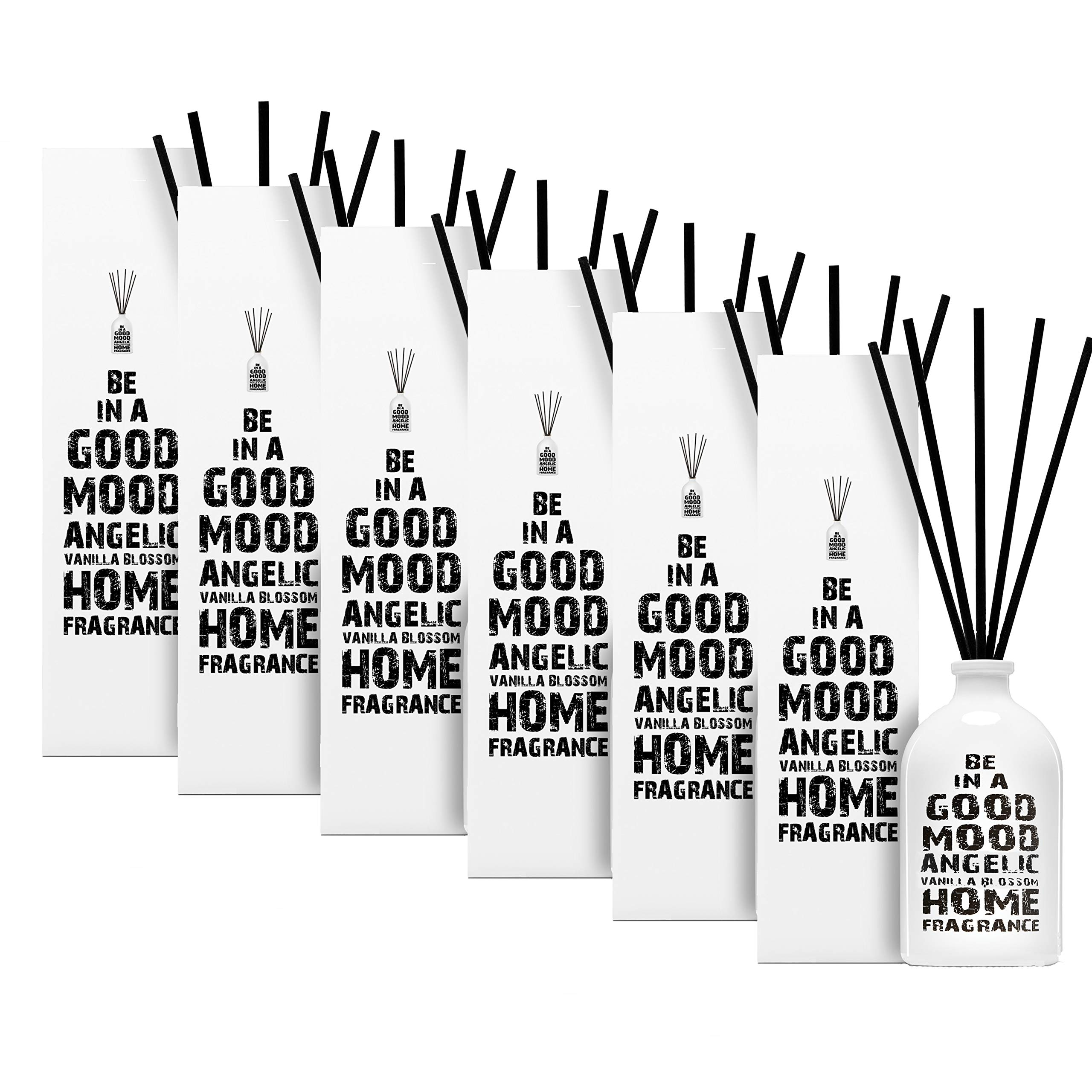 Be in a Good Mood Aromatherapy Diffuser Sticks | Reed Diffuser Set | Aromatic Home Fragrance Set | Essential Oil Diffuser Sticks, Made of Natural Scented Oils Blend - 6 Pack (Vanilla Blossom) by Be in a Good Mood (Image #2)