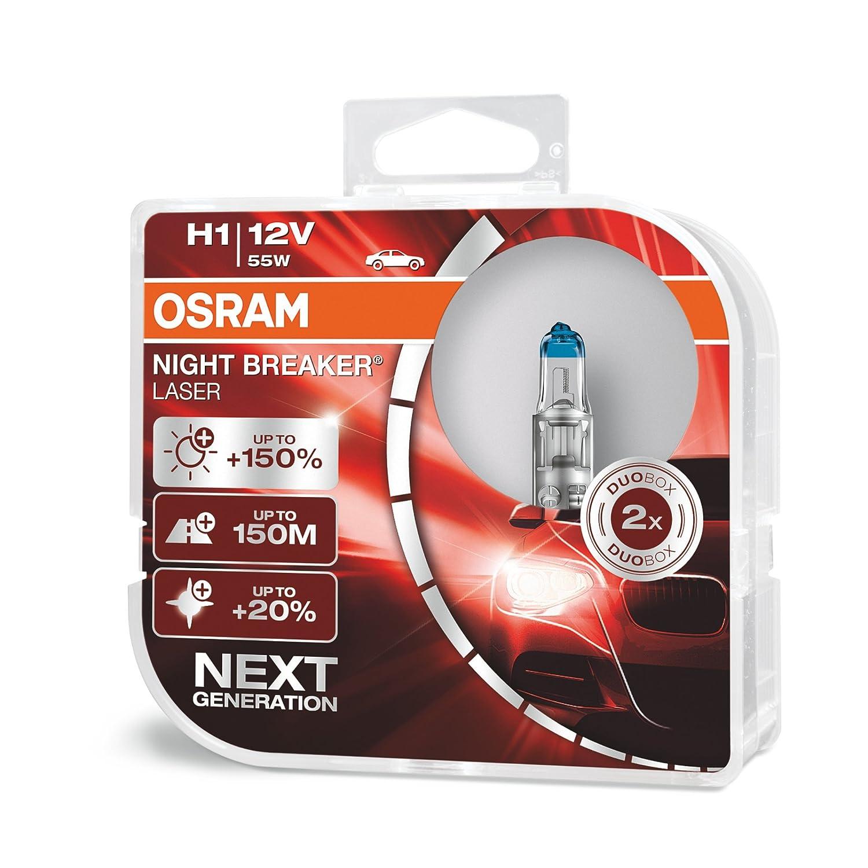 OSRAM 1 H4 B 55//60W 12V Blister NIGHT BREAKER LASER next Gen 1 l/ámpara