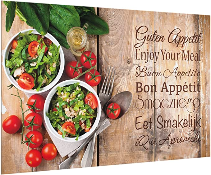 Paysage 2:3 Peinture Murale revetement Mural Cuisine dosseret de Cuisine Impression sur Verre Fond de Cuisine Dimension: 40cm x 60cm Breakfast Table Bilderwelten Cr/édence en Verre