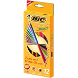 BIC 936911 Colores Dobles, Paquete de 12 Piezas