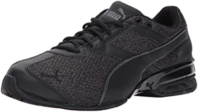 PUMA Men's Tazon 6 Knit Sneaker, Black-Asphalt,7 ...
