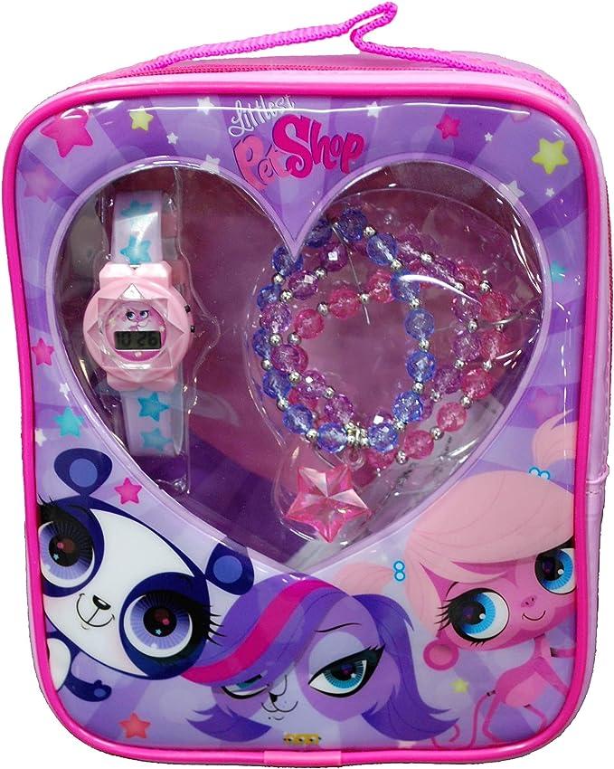 Hasbro #LPS002B - Juego de Pulsera y Reloj de Pulsera para niña: Amazon.es: Relojes