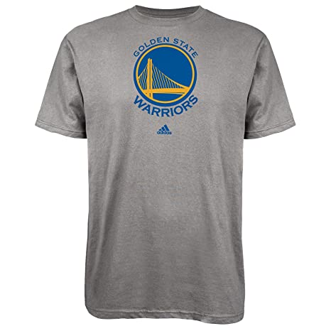 new style 77c9a 5a31e adidas Golden State Warriors Grey Primary Logo T-shirt