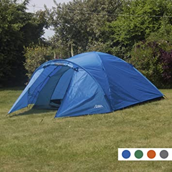 Andes Blue 4 Person Man Berth Double Skin C&ing/Festival Dome Tent & Andes Blue 4 Person Man Berth Double Skin Camping/Festival Dome ...