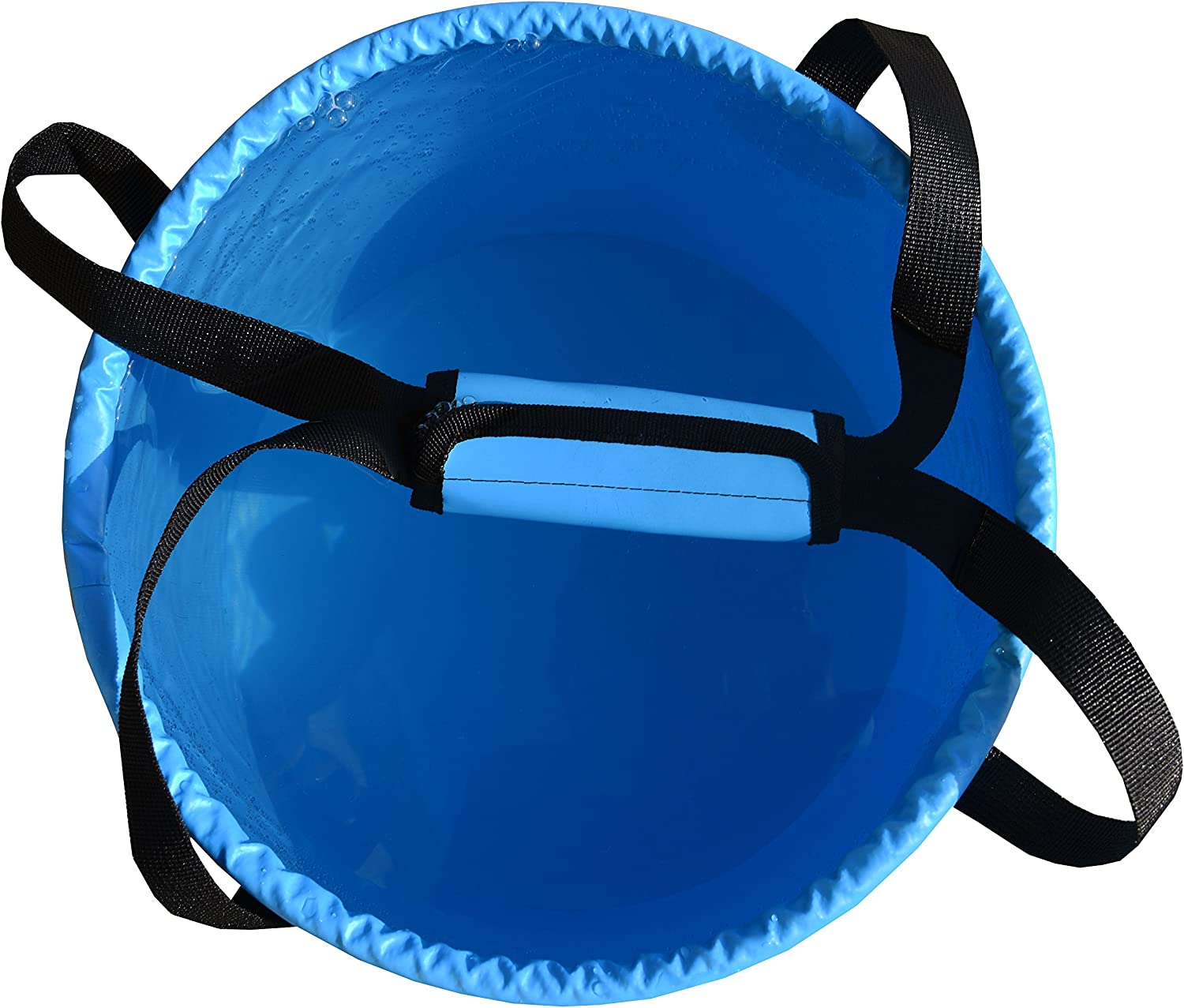 Freegrace Premium Collapsible Bucket Compact Portable Folding Water Container Includes Handy Tool Mesh Pocket Lightweight /& Durable