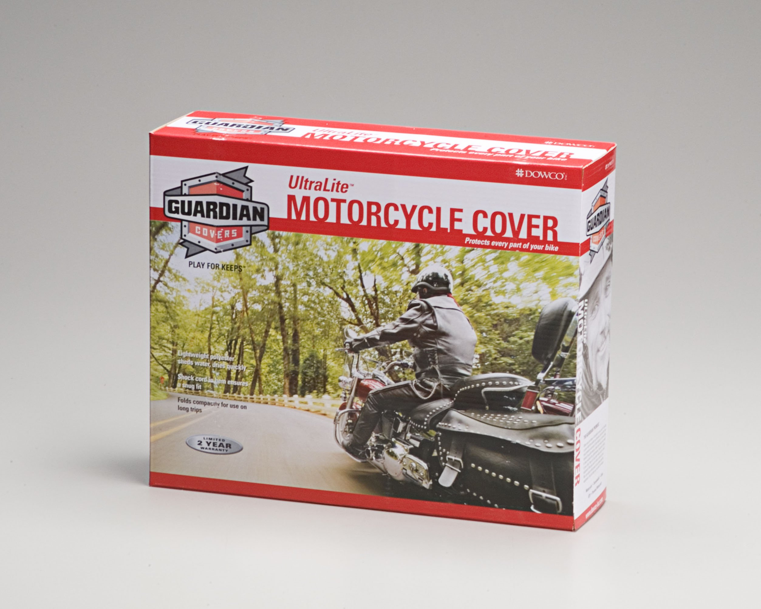 Dowco Guardian 26011-01 UltraLite Water Resistant Indoor/Outdoor Motorcycle Cover: Blue, X-Large by Dowco (Image #2)
