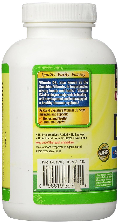 Kirkland Signature Vitamin D3 2,000 IU - 600 Caps: Amazon.es: Electrónica