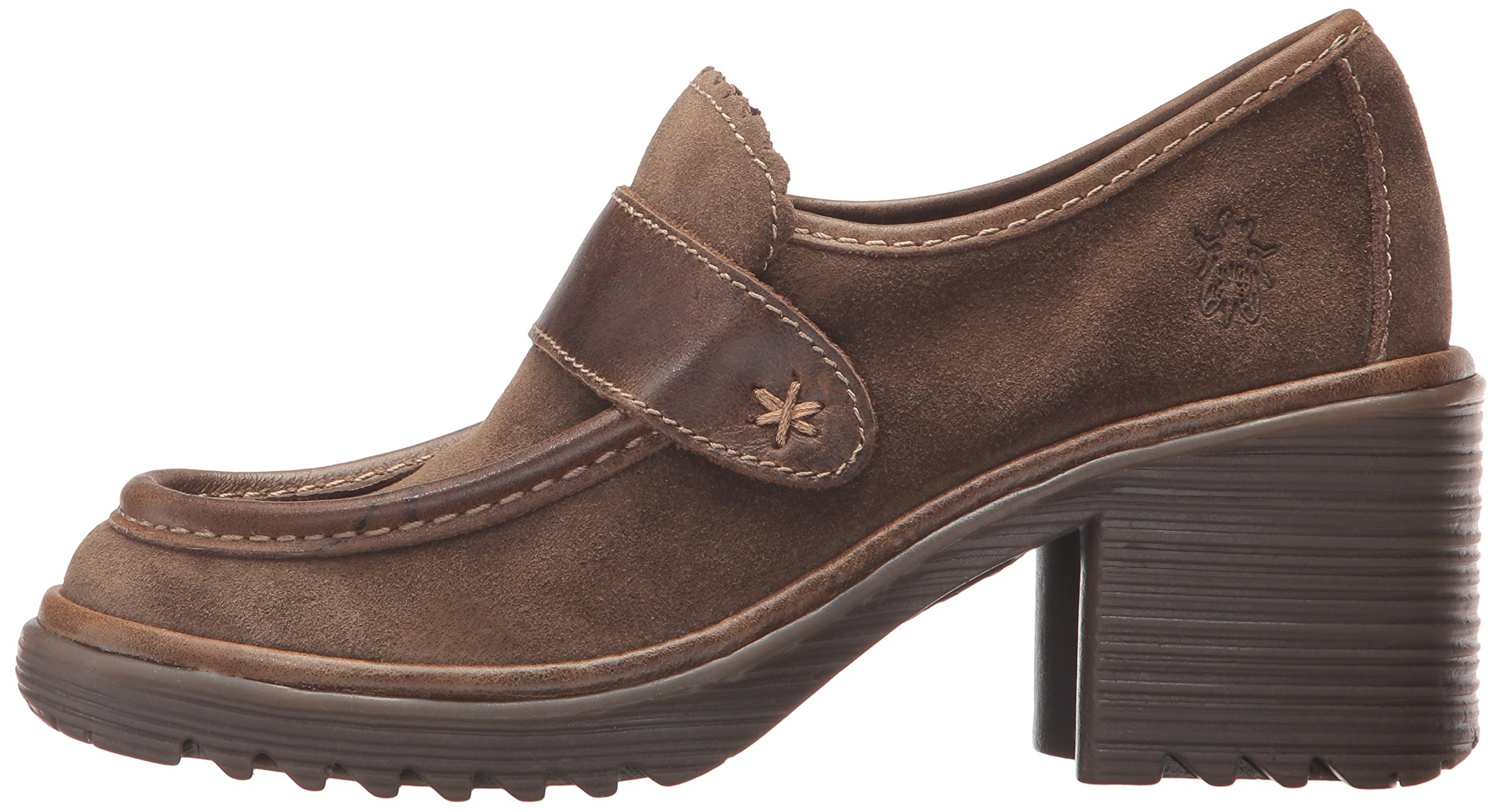 FLY London Women's WEND764FLY Penny Loafer, Sludge/Olive Oil Suede/Rug, 39 M EU (8-8.5 US) by FLY London (Image #5)