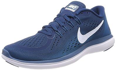 best sneakers 23f29 b5645 Nike Herren Flex 2017 RN Laufschuhe Blau (Blue Force/White/Green Abyss/
