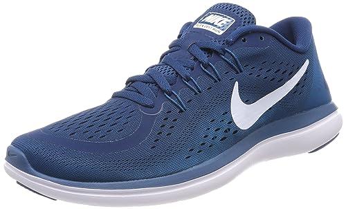 Nike Flex 2017 RN, Zapatillas de Running para Hombre, Turquesa (Blue Force/White-Green Abyss-Black 405), 41 EU: Amazon.es: Zapatos y complementos