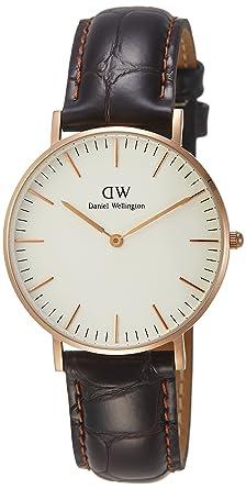 Daniel Wellington 510DW Classic York - Reloj con correa de piel para mujer, color Rosa: Daniel Wellington: Amazon.es: Relojes