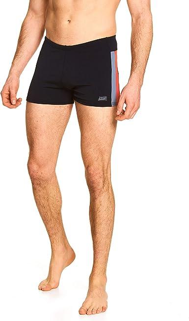 """Zoggs Men/'s Solo Hip Racer Swimming Trunks Black in Waist Sizes 30/""""-40/"""""""