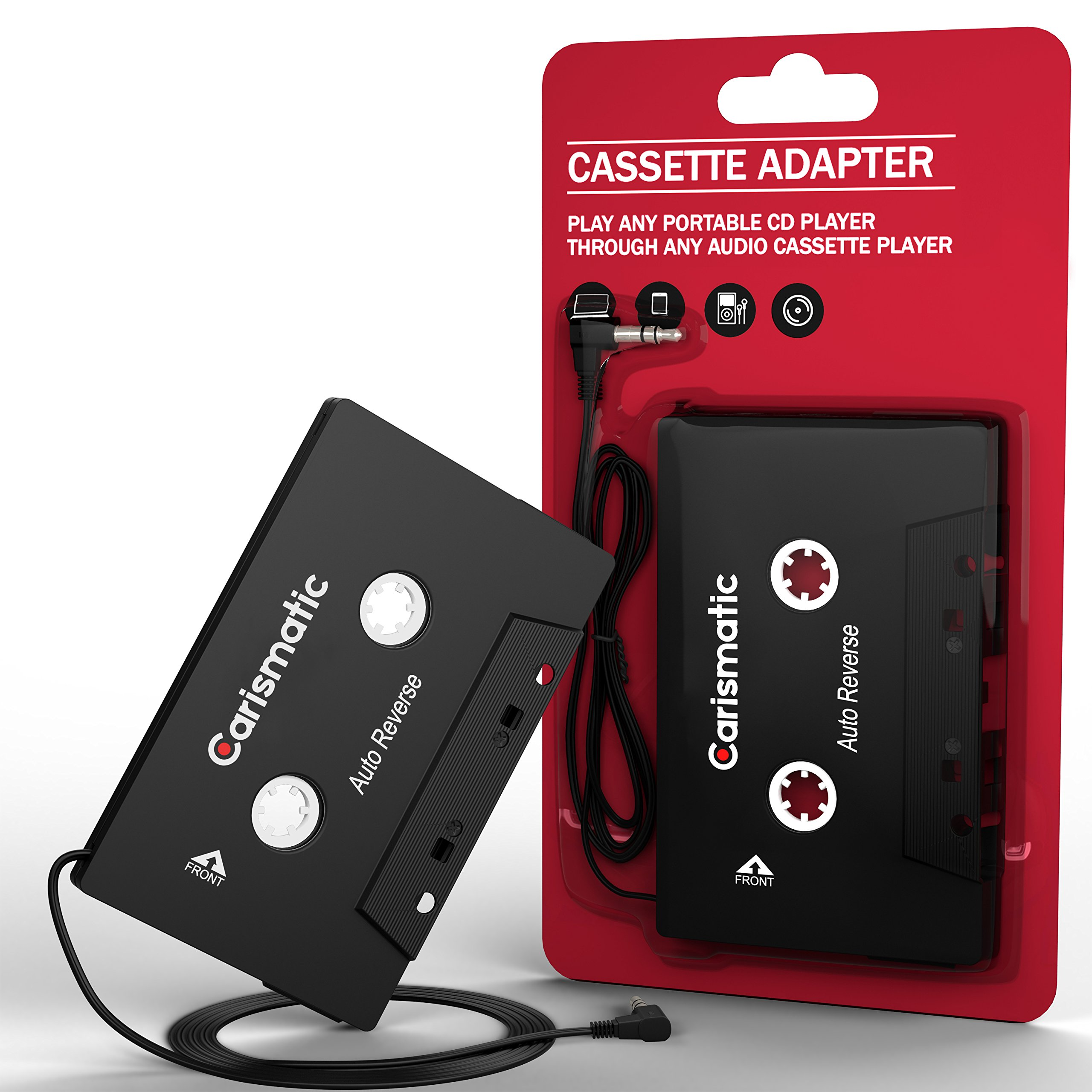 Carismatic 3.5mm Stereo Plug Universal Audio Cassette Adapter for iPhone/Android/Smartphones - Black by Carismatic (Image #6)