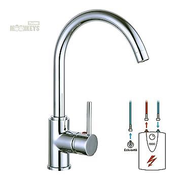 Niederdruck Wasserhahn Spültisch Armatur Küche Mischbatterie Mit Hohem  Auslauf Inkl. Befestigungsmaterial Und Montageanleitung