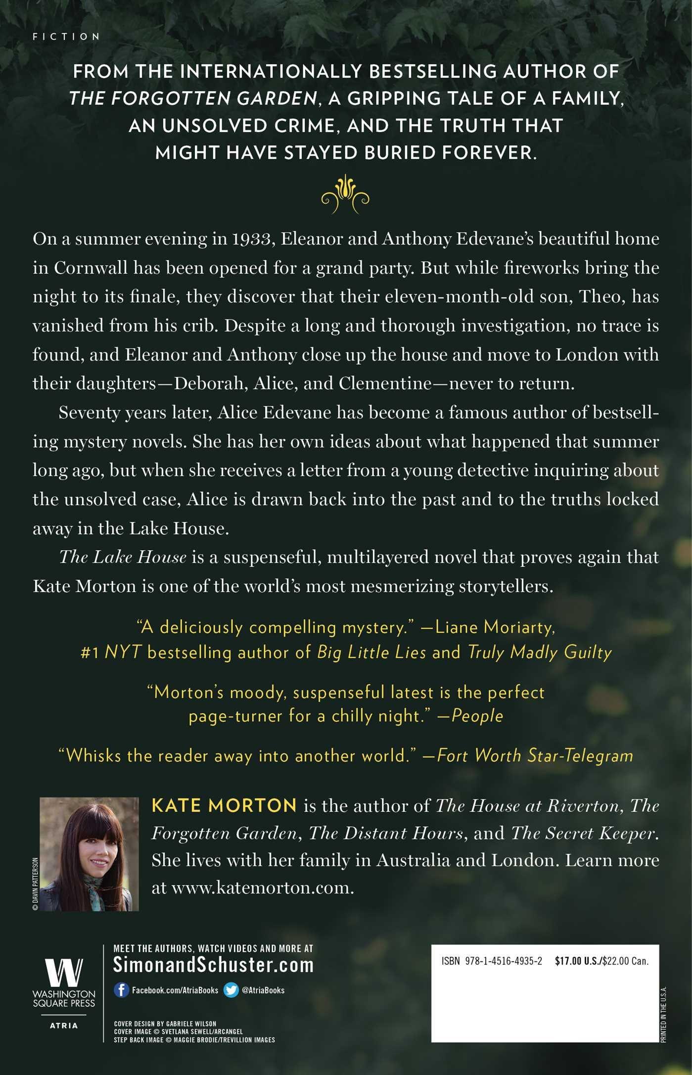 the lake house a novel kate morton 9781451649352 amazon com books