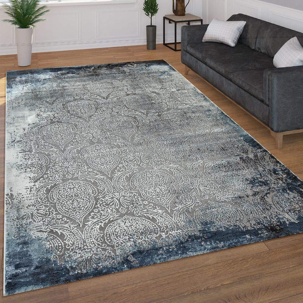 Paco Home Home Home Moderner Kurzflor Wohnzimmer Teppich 3D Optik Orientalisches Muster In Grau Blau, Grösse 160x230 cm B07KWZBQL8 Teppiche 397d79