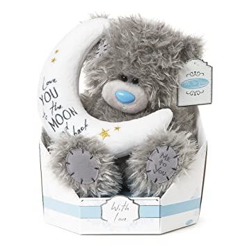 Me To You SG01W4100 Tatty Teddy Signature Collection Peluche de Osito con Luna, diseño con