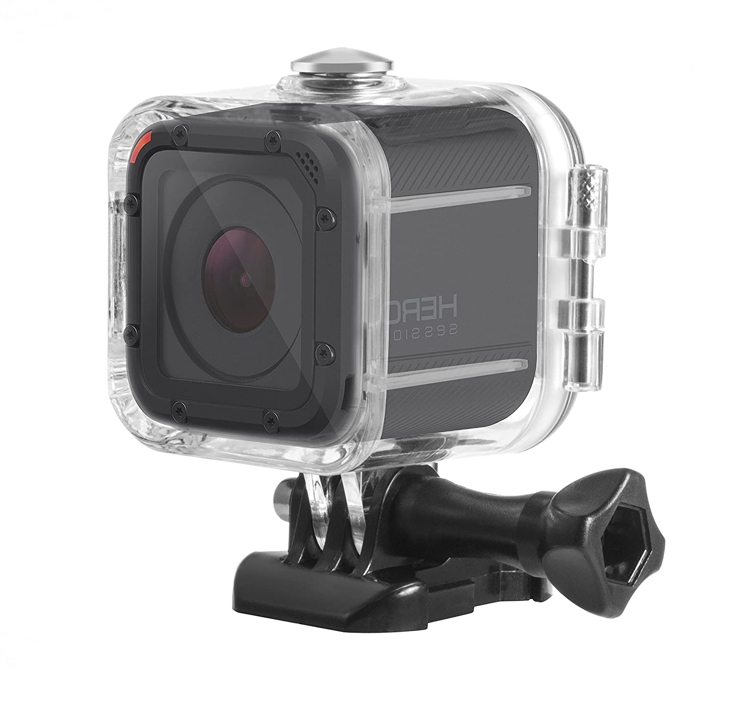 Deyard Waterproof Housing Standard Protective Case for GoPro Hero 5 Session Hero 4 Session Camcorder with Bracket & Screw TS001
