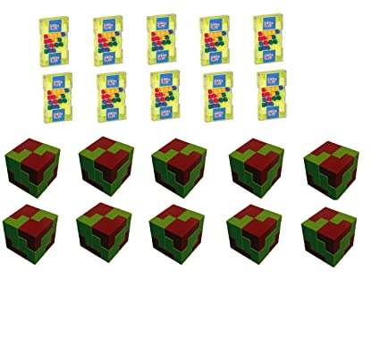 Virgo Toys Matchup & I Qube Puzzle (Combo) - Pack of 10