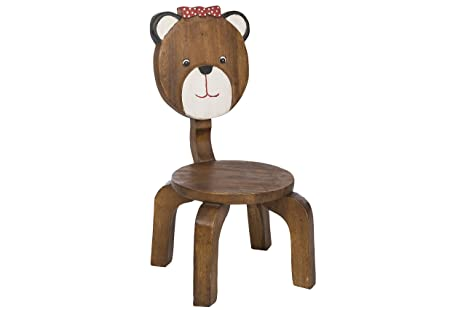 Sedia per bambini 62 x 34 x 35 cm sgabello in legno con