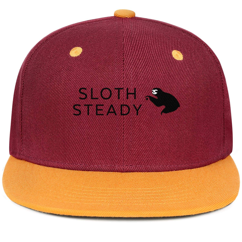 KYTKYTT Mens Womens Mesh Dad Cap Sloth Steady Snapback Flat Hat