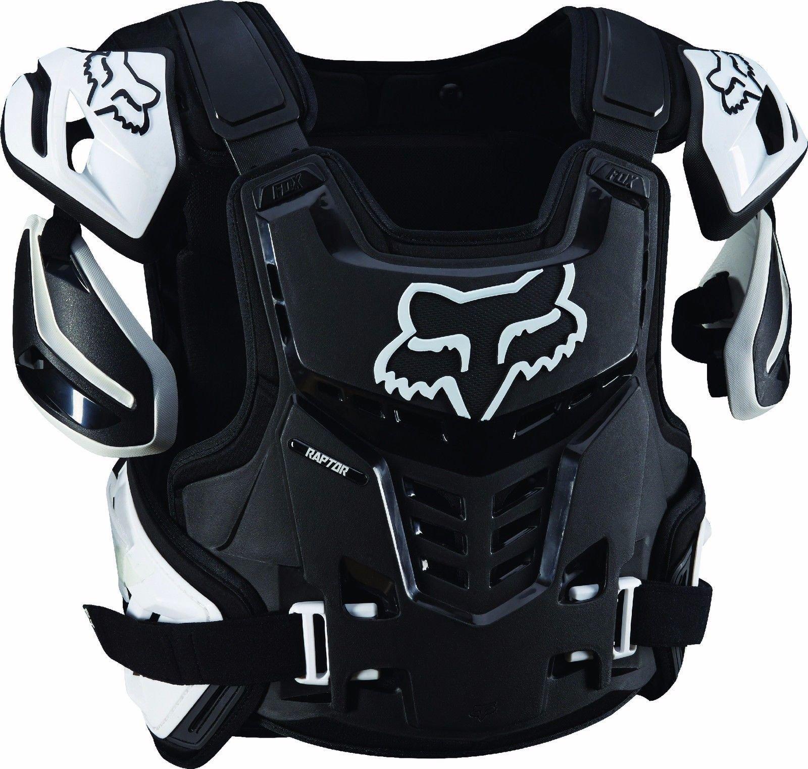 Fox Racing Raptor Roost Deflector - Large/X-Large/Black/White