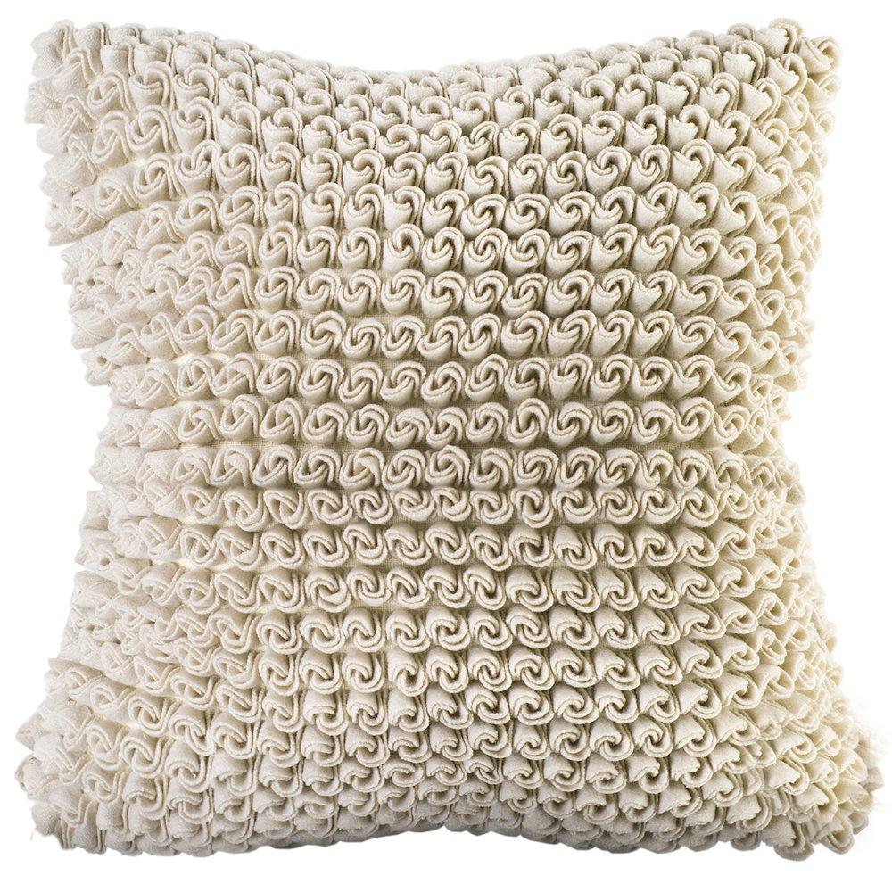 Chauran Celeste-Felt 18'x18' Pillow Cover Ivory