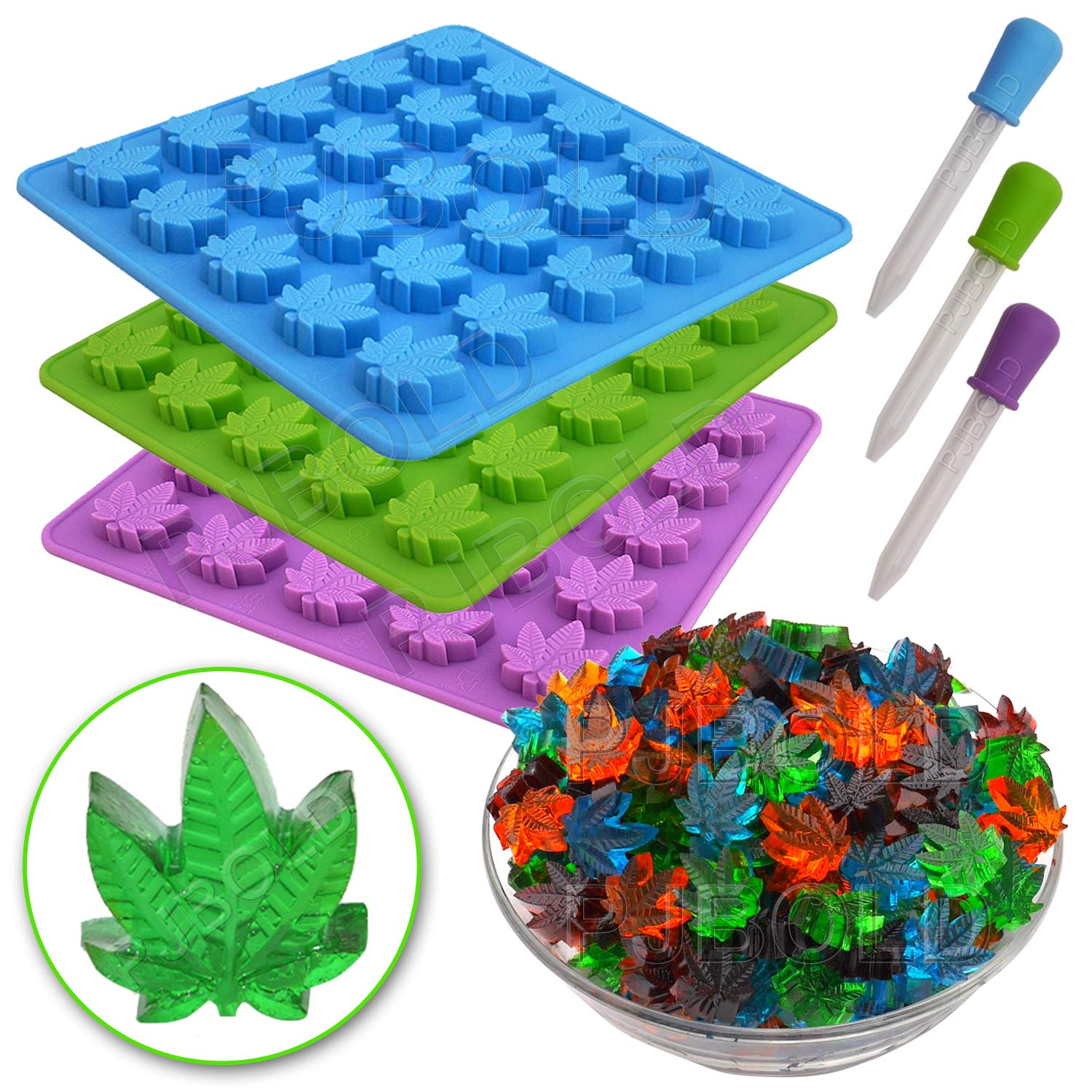Gummy Leaf Silicone Candy Mold Party Novelty Gift - 3 Pack by PJ Bold (Image #6)