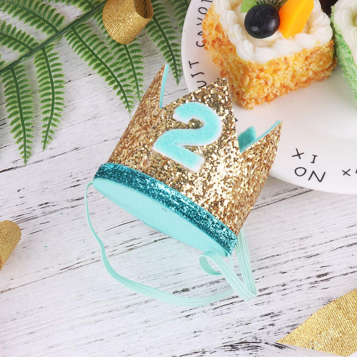 Freebily Baby Geburtstagskrone 1 Geburtstags Hut Glanzend Fur Infant