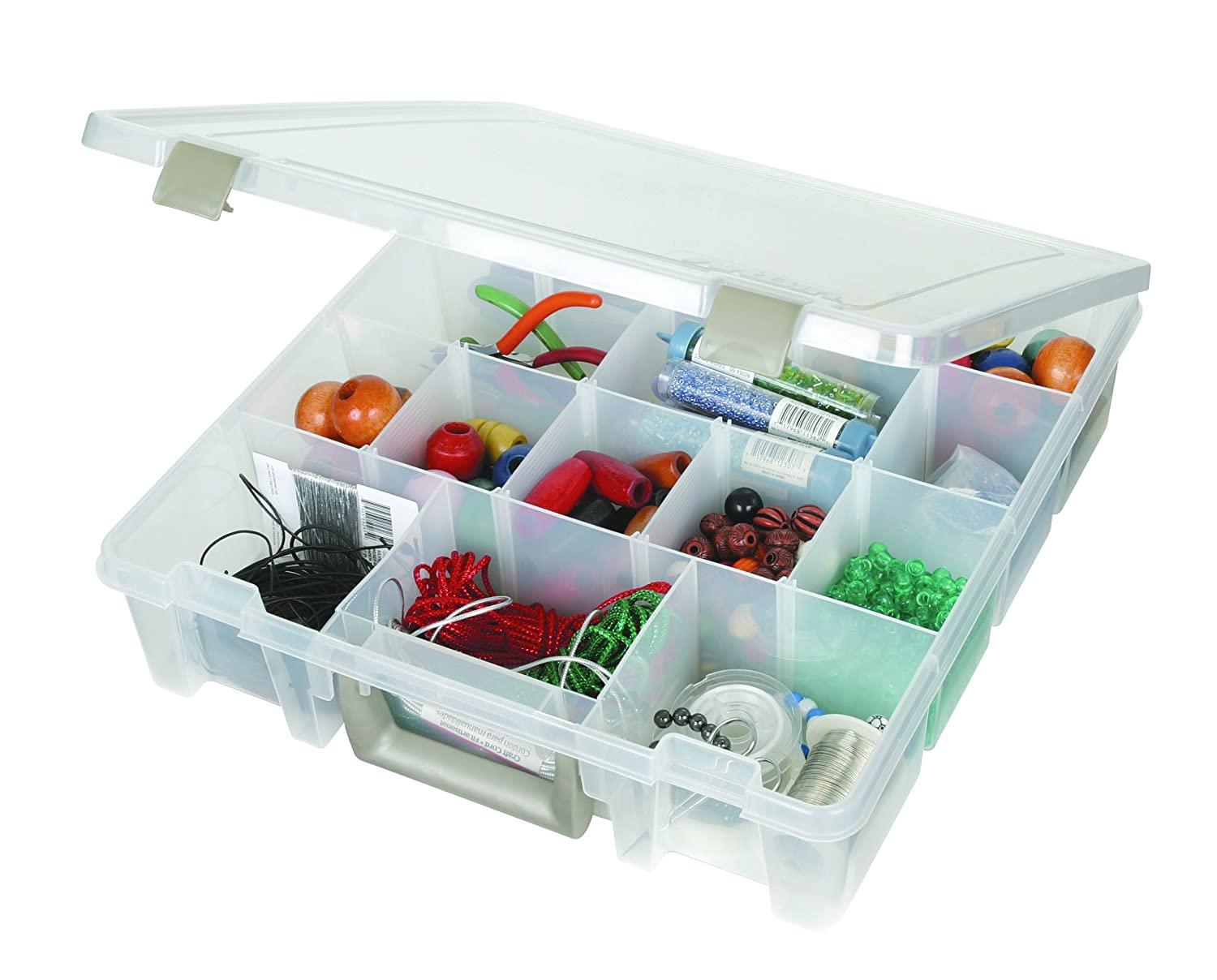 Amazon.com: ArtBin Super Satchel Removable Dividers Box   Art Craft Storage  Container, 9007AB