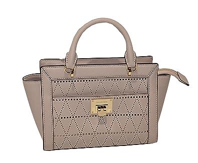 1567789312a9 MICHAEL Michael Kors Women s TINA Small Top Zip Messenger leather shoulder  Handbag (Ballet)  Handbags  Amazon.com