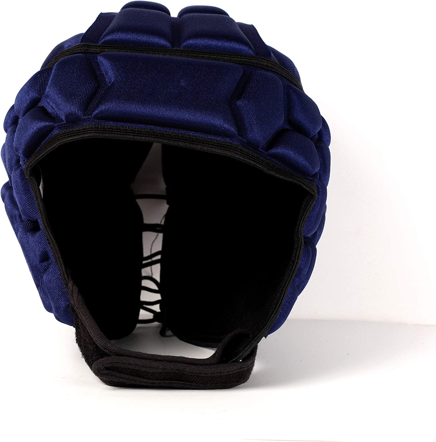 Barnett Heat Pro Helmet - Soft Padded Headgear - Rugby -Flag Football - Youth & Adult Sizing 7 on 7-7v7 Soft Shell (Navy Blue)