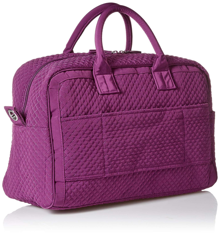 26323d686 Amazon.com: Vera Bradley womens Iconic Compact Weekender Travel Bag,  Microfiber, Gloxinia Purple, One Size: Clothing
