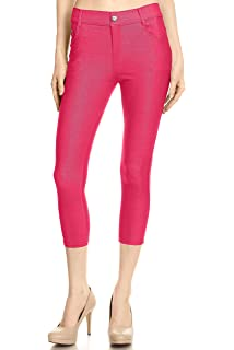 26bff0ff9af Simlu Capri Jeggings for Women Pull on High Waisted Jeggings Skinny Jeans  with Pockets