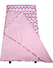 Wildkin Big Dot Pink and White Easy-Clean Nap Mat, One Size