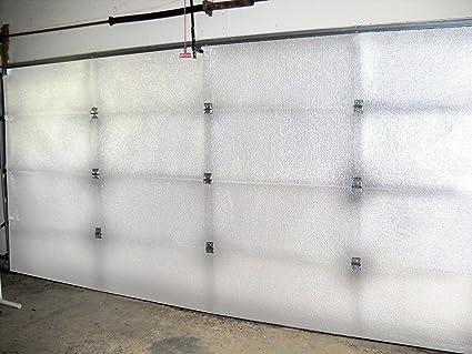 NASA TECH White Reflective Foam Core 2 Car Garage Door Insulation Kit 16FT  (WIDE) X 8FT ...