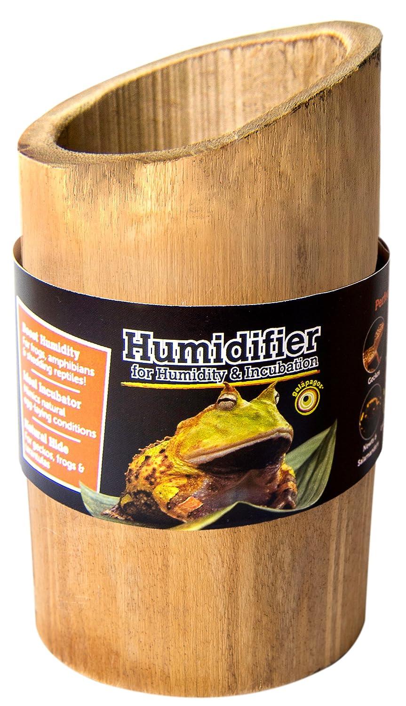 Galapagos (05340) Bamboo Humidifier, Natural, 6in Tall (4in D)