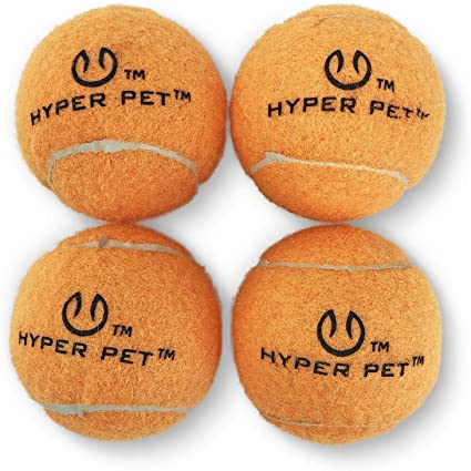 4 Pack Dog Fun Bouncy Ball Exercise /& Training HypetPet Tennis Balls