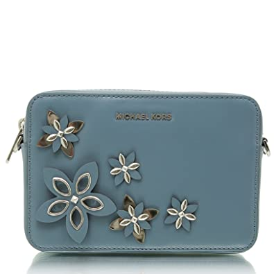 cc4816935f71 MICHAEL Michael Kors Flowers Pouches Medium Camera Bag Cross Body, Denim