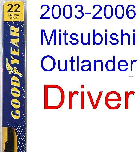 2003 – 2006 mitsubishi outlander hoja de limpiaparabrisas de repuesto Set/Kit (Goodyear limpiaparabrisas