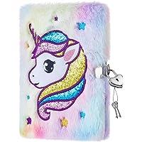 Cuaderno de Unicornio para Niñas - Diarios de Felpa Unicornio de Regalo Diarios y Libretas A5 Blocs y Cuadernos de Notas…
