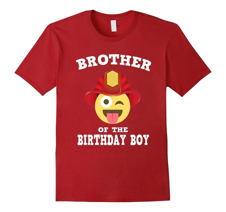 Emoji Brother Of Birthday Boy Fireman T Shirt Wink Out Shirt TH