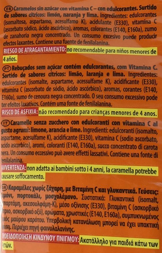 Halls Caramelos sin Azúcar con vitamina C, Sabores Cítricos - 100 g: Amazon.es: Amazon Pantry