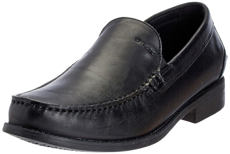 Geox U DAMON A U24W6A00043C9999 - Zapatos de cuero para hombre 47 EU Negro
