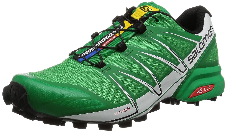 Salomon L38312100, Zapatillas de Trail Running para Hombre 46 2/3 EU Verde (Athletic Green X / Black / White)